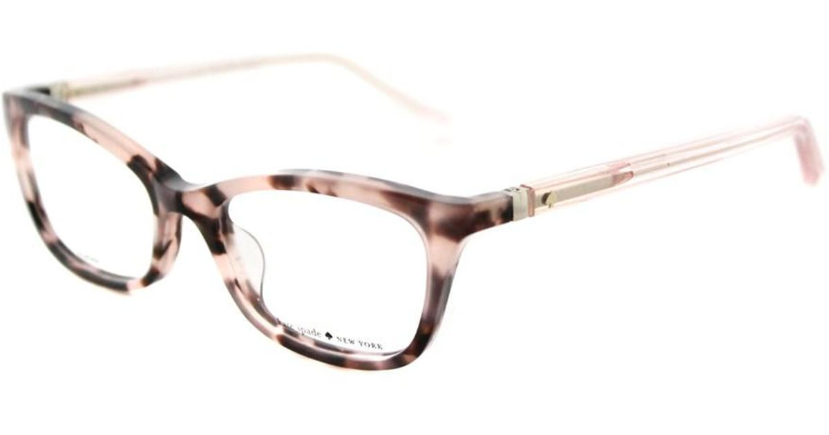 ff04eebf28 Lyst - Kate Spade Delacy Cat-eye Plastic Eyeglasses in Brown