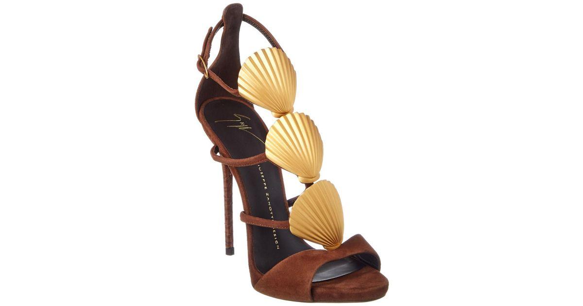 ce7b94003584b ... cheap lyst giuseppe zanotti shell suede sandal 468c1 20afe
