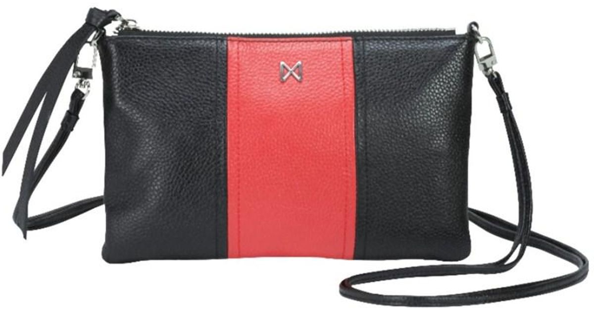 312fd539f8fb Lyst - Mofe Kinetic Convertible Crossbody-clutch In Colorblock Pebble  Leather With Detachable Shoulder Strap in Black