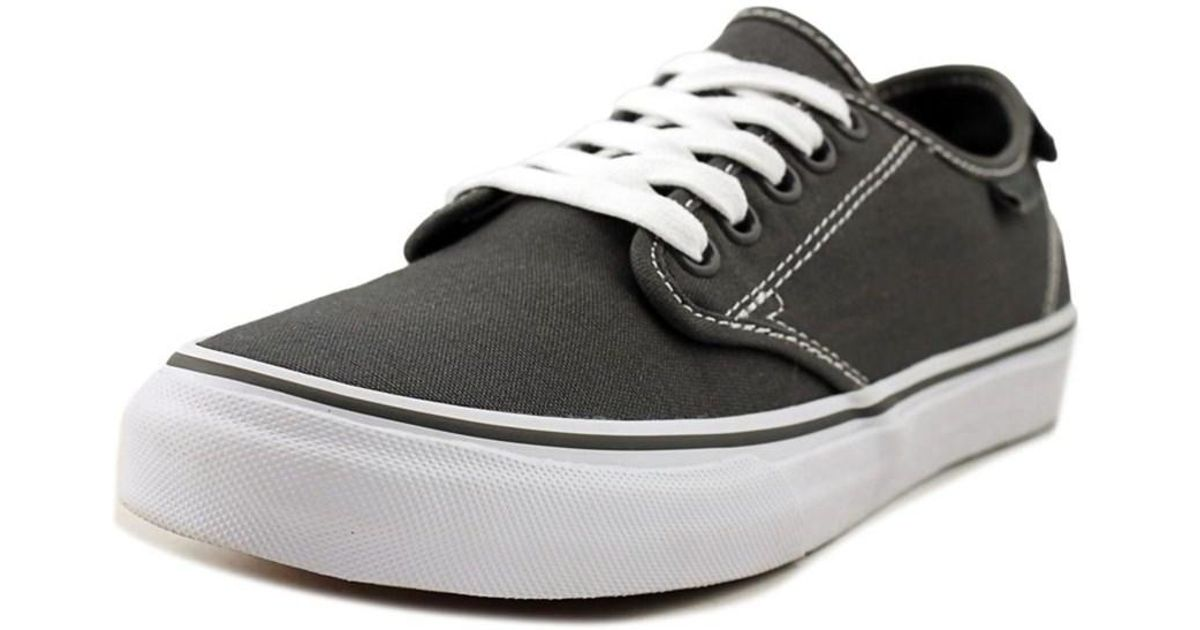 d354bd2a839 Lyst - Vans Womens Camden Deluxe Canvas Low Top Lace Up Fashion Sneakers in  Gray