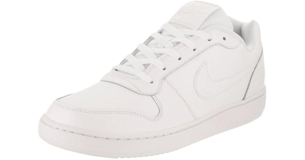 f83cd80317 Lyst - Nike Men s Ebernon Low Basketball Shoe in White for Men