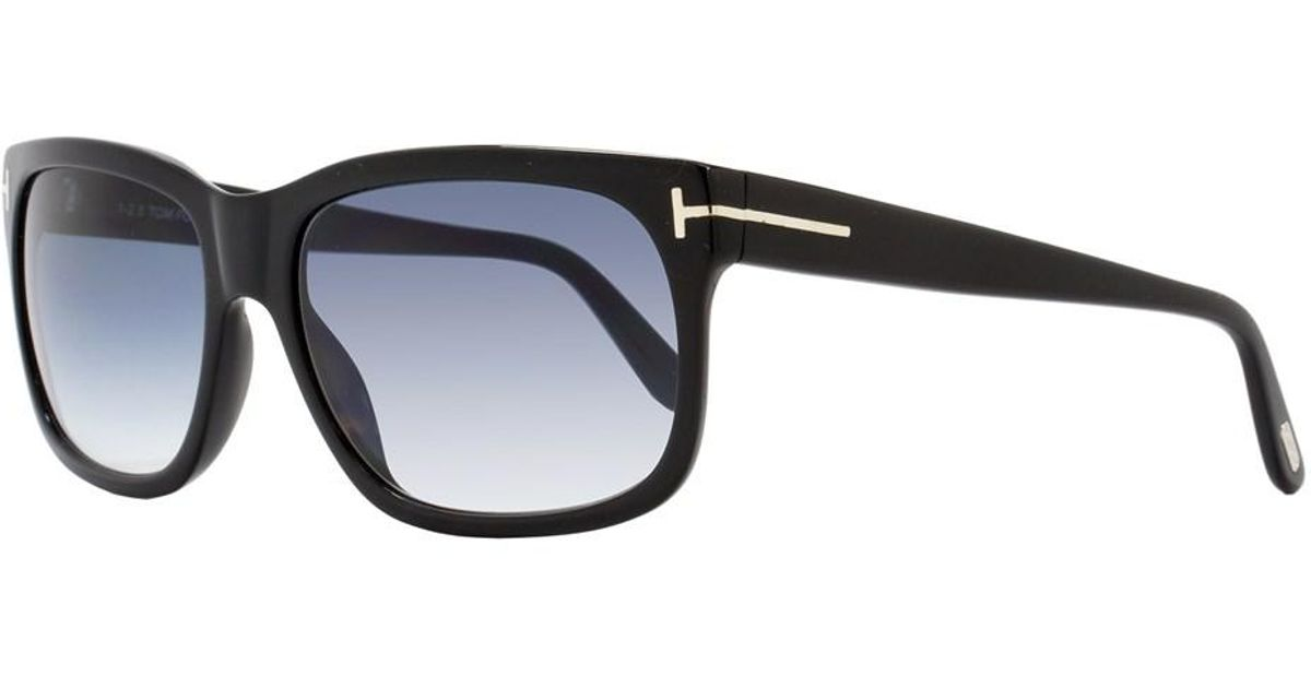 8d871fe857 Lyst - Tom Ford Rectangular Sunglasses Tf376 Barbara 02n Shiny Black Ft0376  in Black
