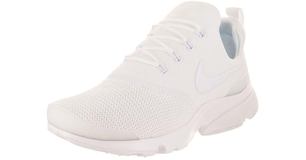 the best attitude 209a6 6084e Nike - White Women's Presto Fly Running Shoe - Lyst