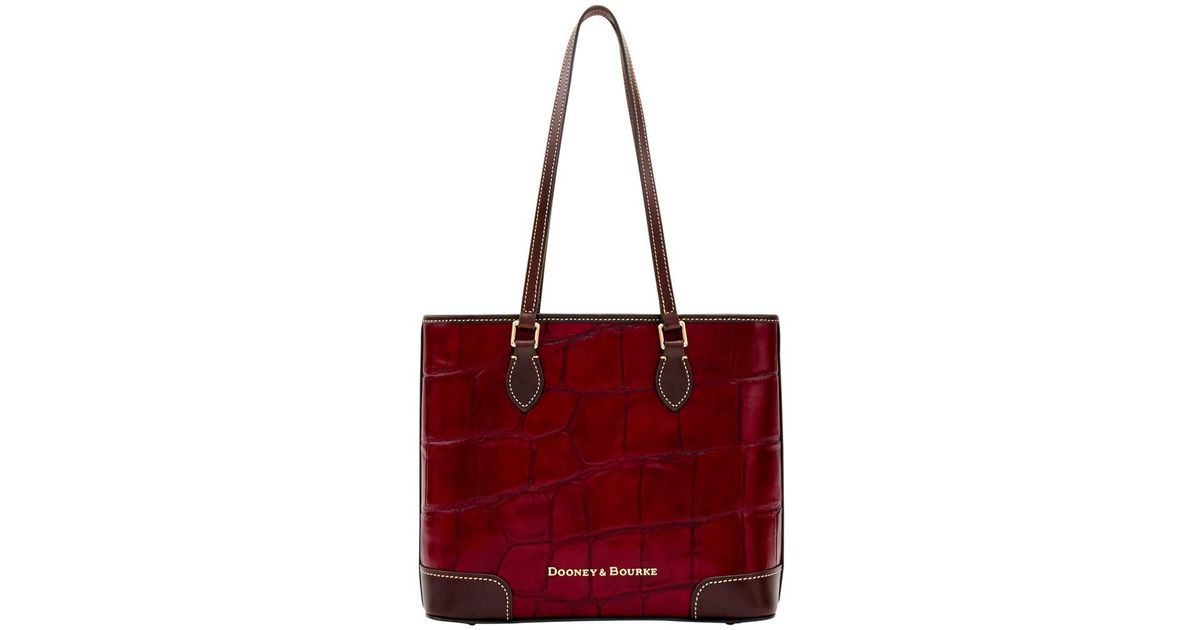 d87cb9a44ed9 Lyst - Dooney   Bourke Large Croc Richmond Shopper Tote in Brown