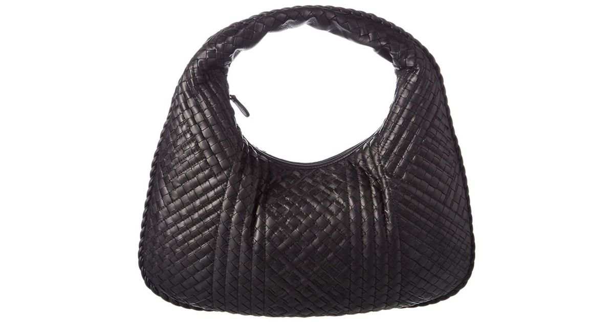 4160d8891ca5 Lyst - Bottega Veneta Intrecciato Nappa Leather Medium Veneta Bag in Black