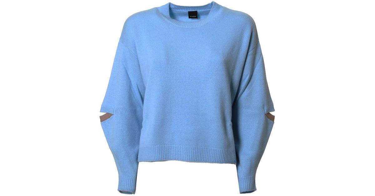 Lyst - Pinko Women s Light Blue Wool Sweater in Blue fac65c7554