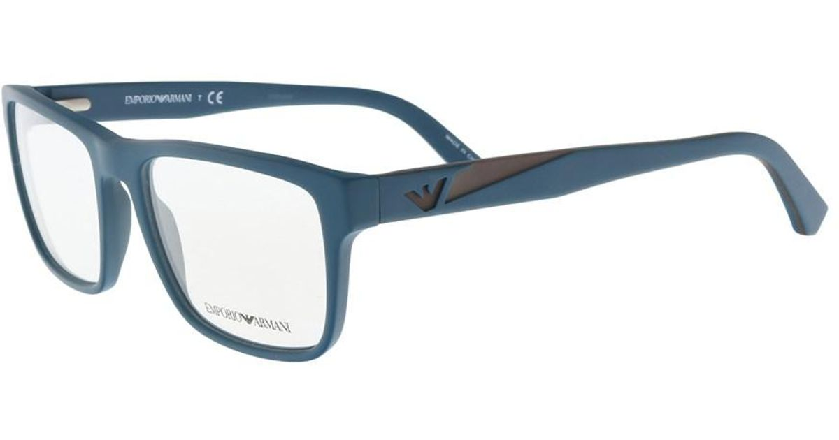 1691304d9c0 Lyst - Emporio Armani Ea3080 5508 Teal Square Sunglasses in Blue