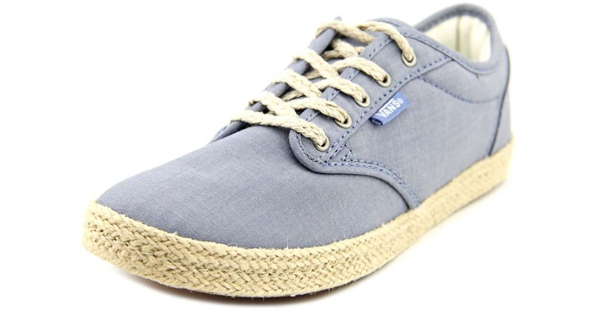 a7b8914c2b1 Lyst - Vans Atwood Low Women Round Toe Canvas Blue Skate Shoe in Blue