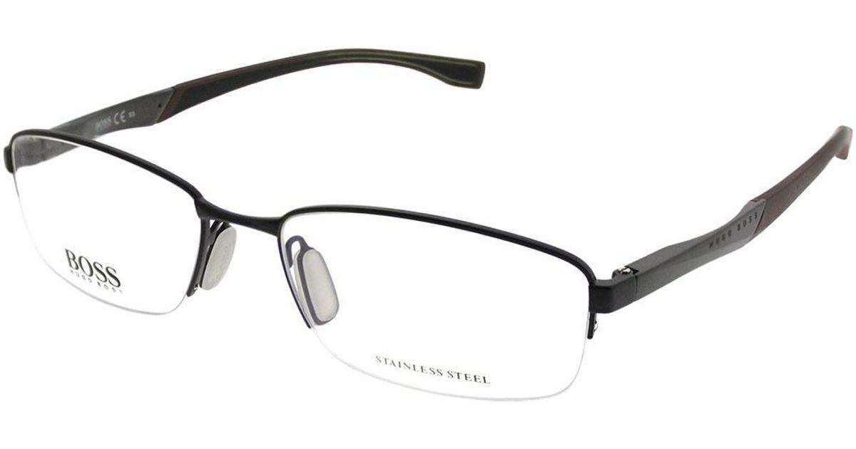 2ca636f1df Lyst - Boss Boss 0709 Gzv 56mm Blue Palladium Rectangle Eyeglasses