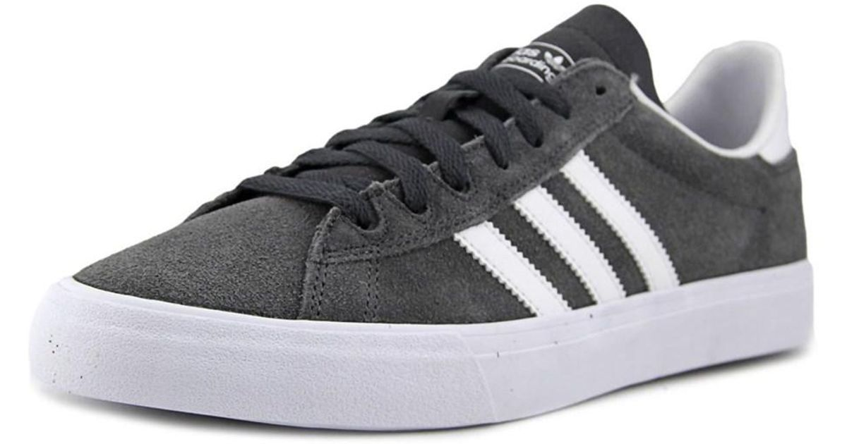 newest 2f166 ee438 ... 100% top quality Lyst - Adidas Campus Vulc Ii Adv Men Round Toe Suede  Gray ...