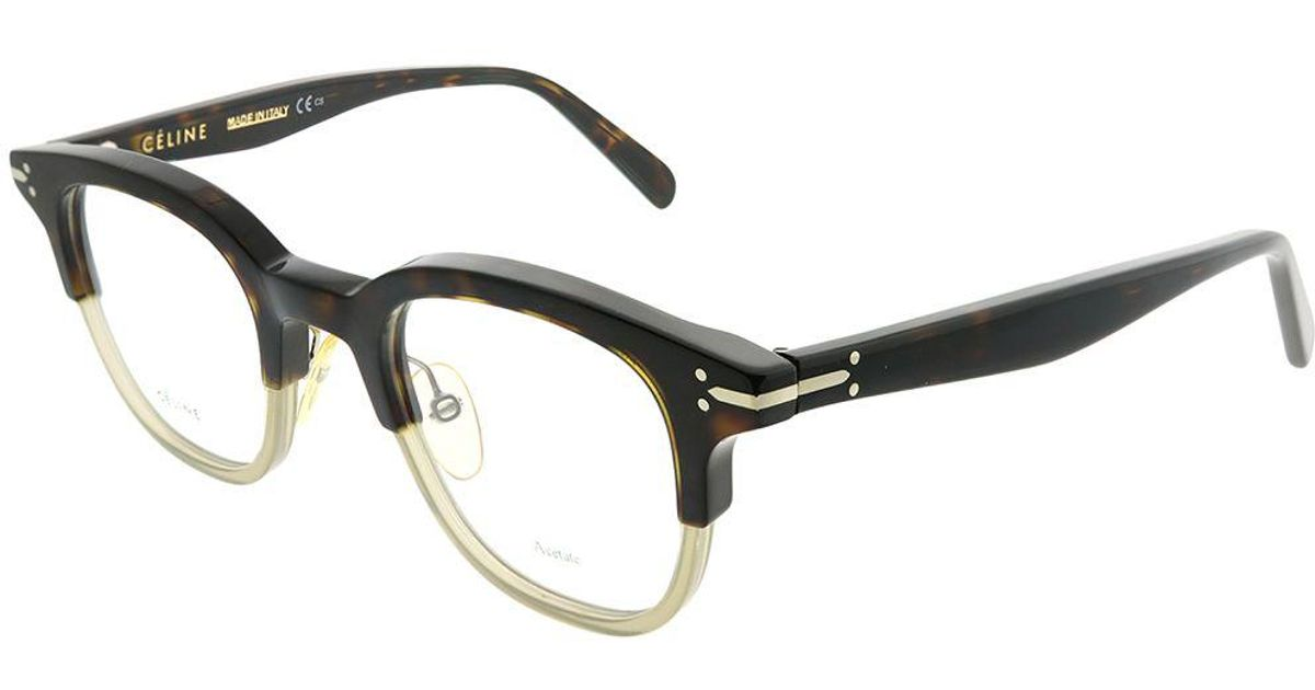 5eae0b2255428 Lyst - Céline Erin Cl 41422 T6z Darkhavanagreen Square Eyeglasses