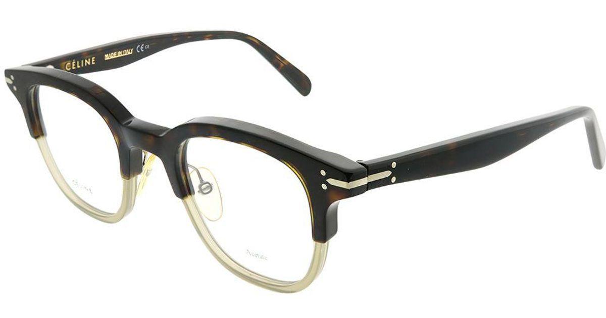 a6fa5fbc83c Lyst - Céline Erin Cl 41422 T6z Darkhavanagreen Square Eyeglasses