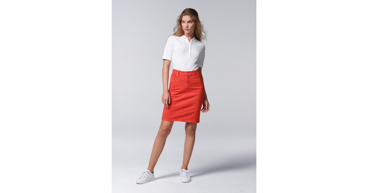 4bc834cf87c73d Bogner 5-pocket Jeans Skirt Jodie in Red - Lyst