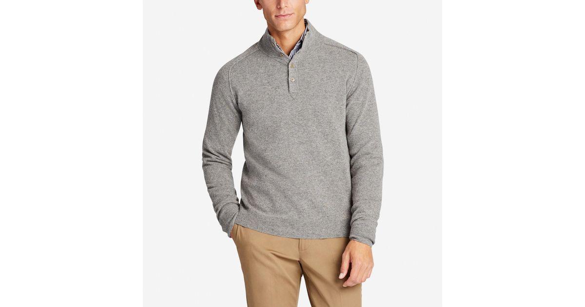 Bonobos Lightweight Wool Button Mock Sweater in Gray for Men | Lyst
