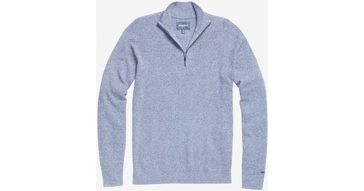 Bonobos The M-flex Knockdown Sweater in Blue for Men | Lyst