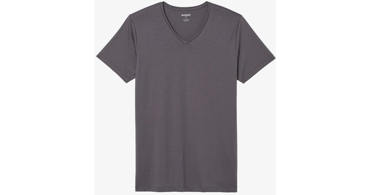 7e5ee59c8c43 Lyst - Bonobos Superfine V-neck Tee in Gray for Men