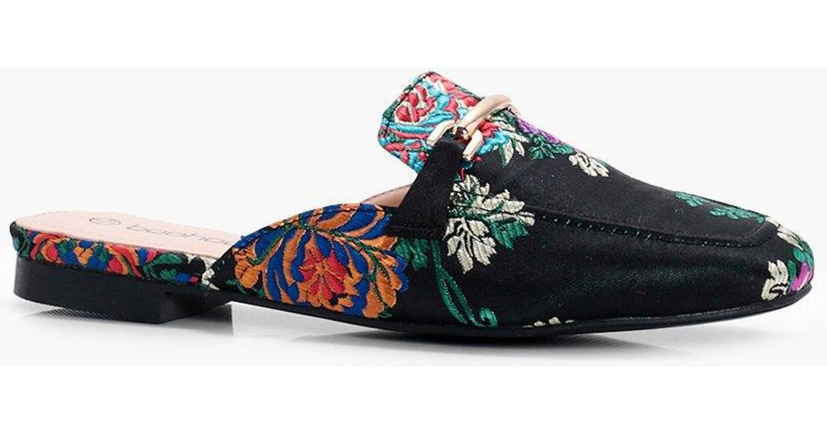 Image result for Oriental Print Mule Loafers