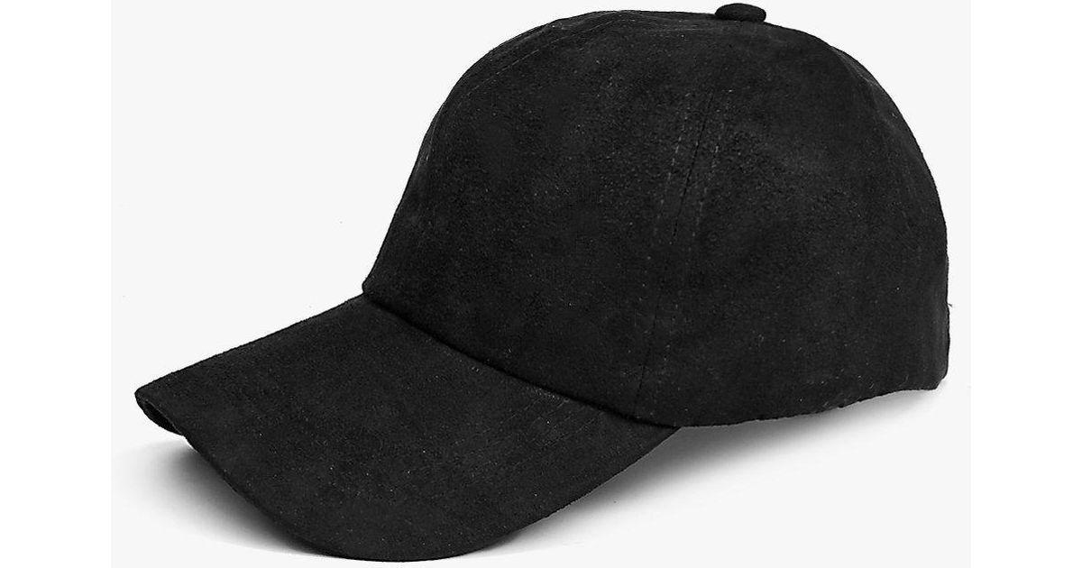 a6b0c089ff3 Lyst - Boohoo Matilda Suedette Baseball Cap in Black