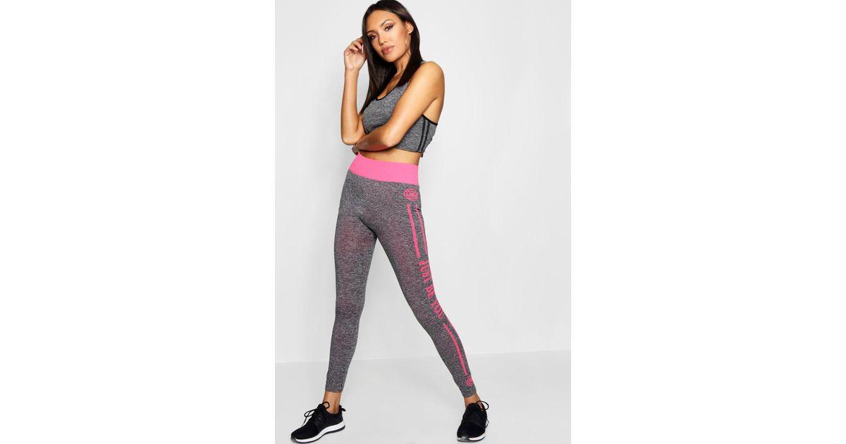 Side Stripe Pink Leggings Boohoo Lyst Sports tsQdhr