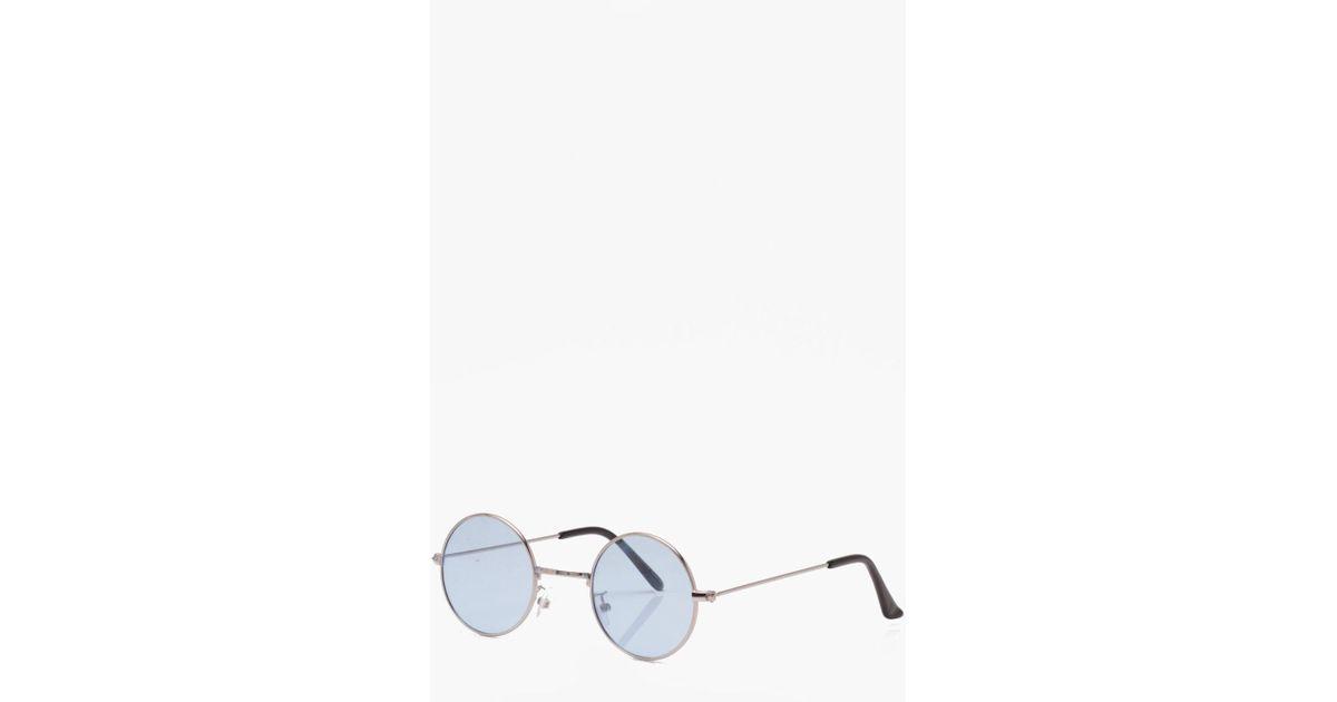 519206531e1 Lyst - Boohoo Blue Tinted Lens Glasses in Blue for Men
