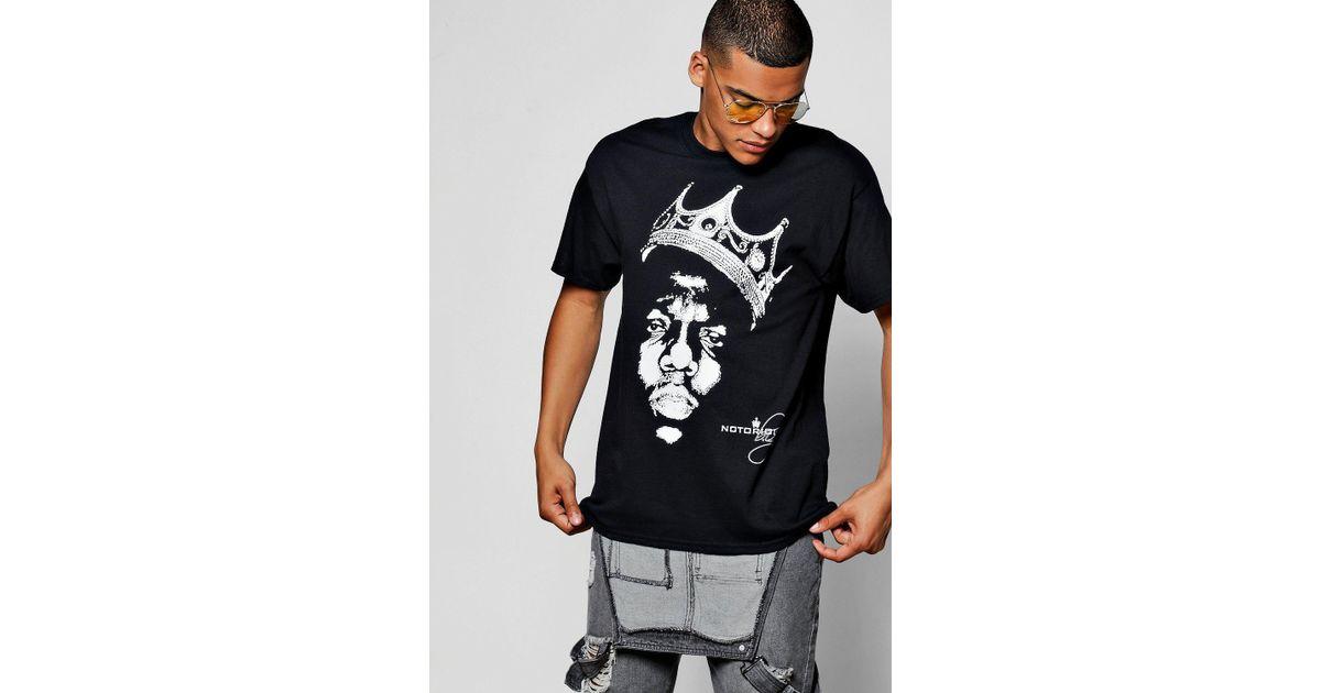 9ad206c2 Boohoo Black Printed Biggie Licence T-shirt in Black for Men - Lyst