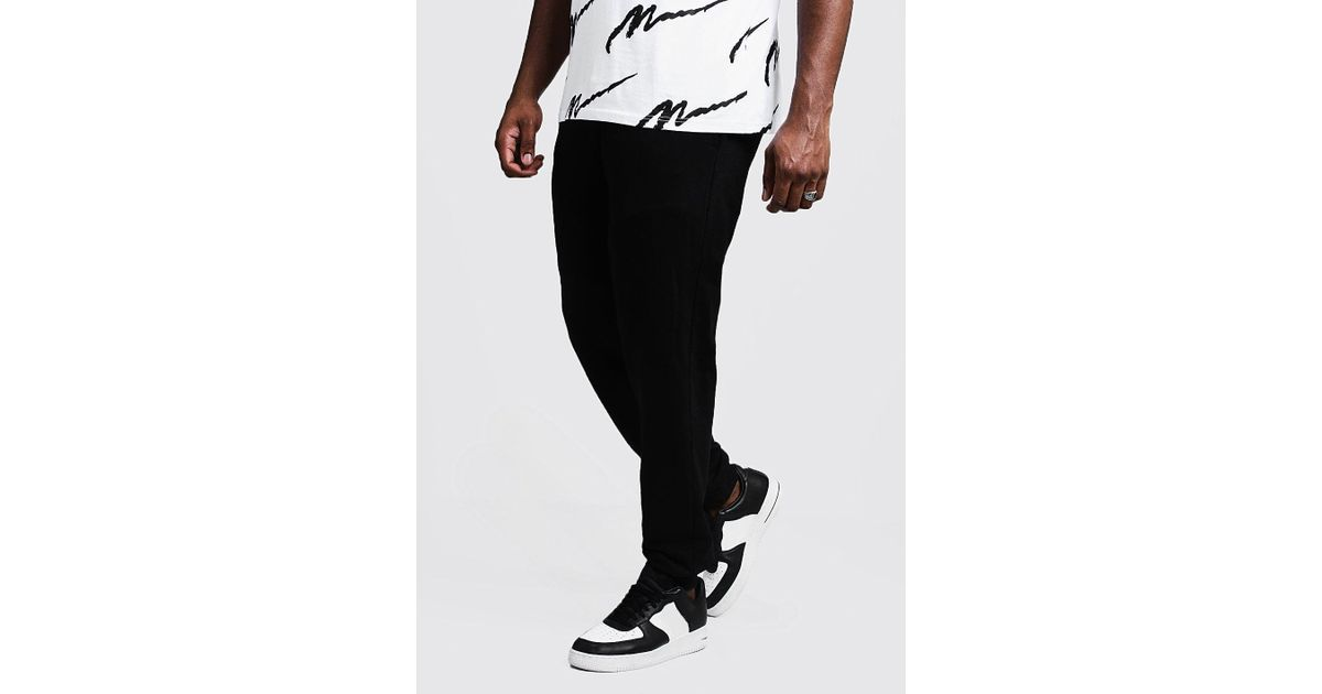 280d2ace407249 Lyst - BoohooMAN Big And Tall Boohoo Man Joggers in Black for Men - Save 46%