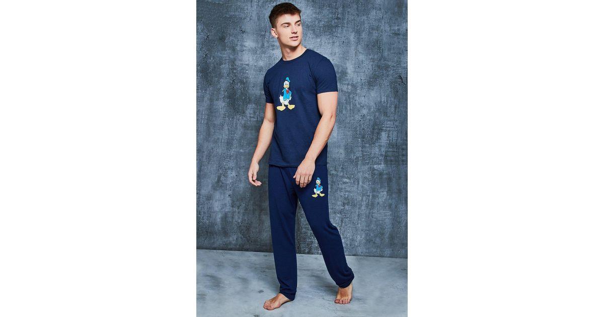 235a46b9 Boohoo Disney Donald Duck Pyjama Set in Blue for Men - Lyst