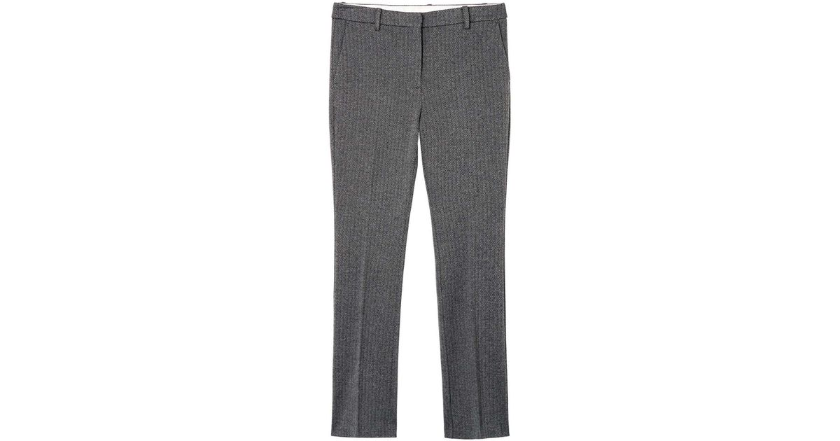 9c77e373 GANT O1.herringbone Jersey Pants in Gray - Lyst