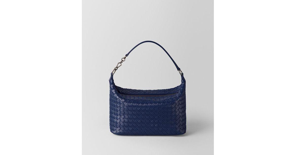 15bb9e59852 Lyst - Bottega Veneta Atlantic Intrecciato Nappa Shoulder Bag in Blue