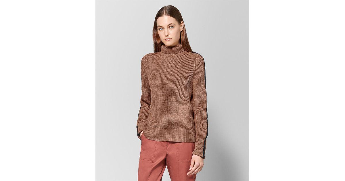 6a13ccabb9 Lyst - Bottega Veneta Desert Rose Cotton Sweater