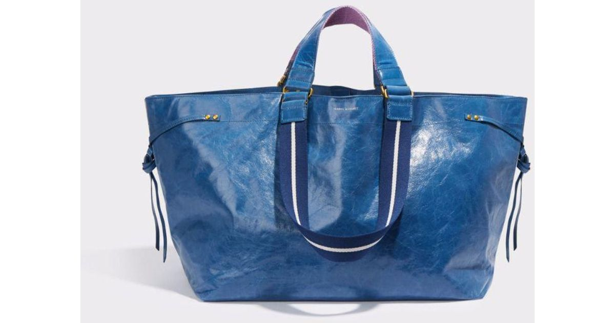 2b22dfb9fc6 Isabel Marant Wardy Glossed-leather Shopper in Blue - Lyst