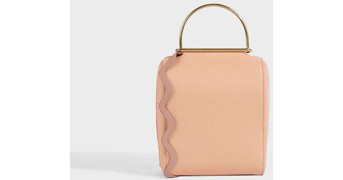 Weekend Mini Color-block Textured-leather Tote - Peach Roksanda Ilincic MKlyk