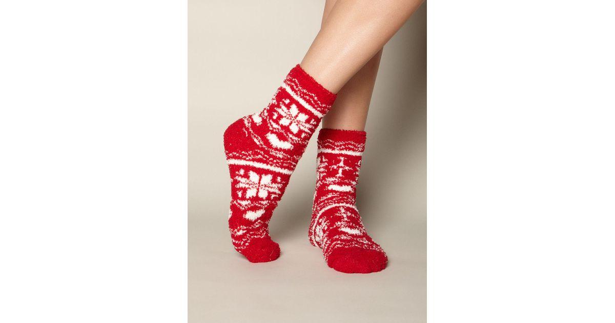 Lyst - Boux avenue Fairisle Chenille Socks in Red