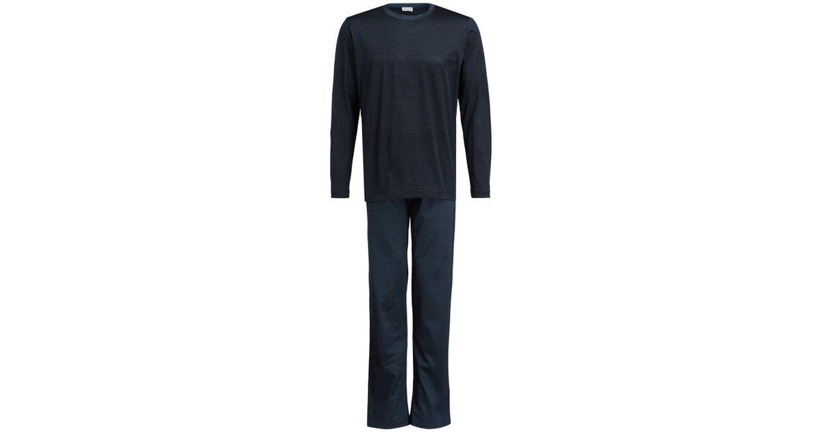 5119776913 Lyst - Zimmerli Schlafanzug in Blau für Herren