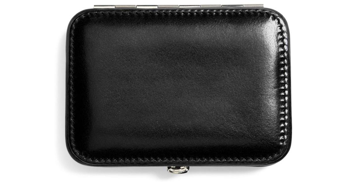 Lyst brooks brothers leather business card case in black for men reheart Images