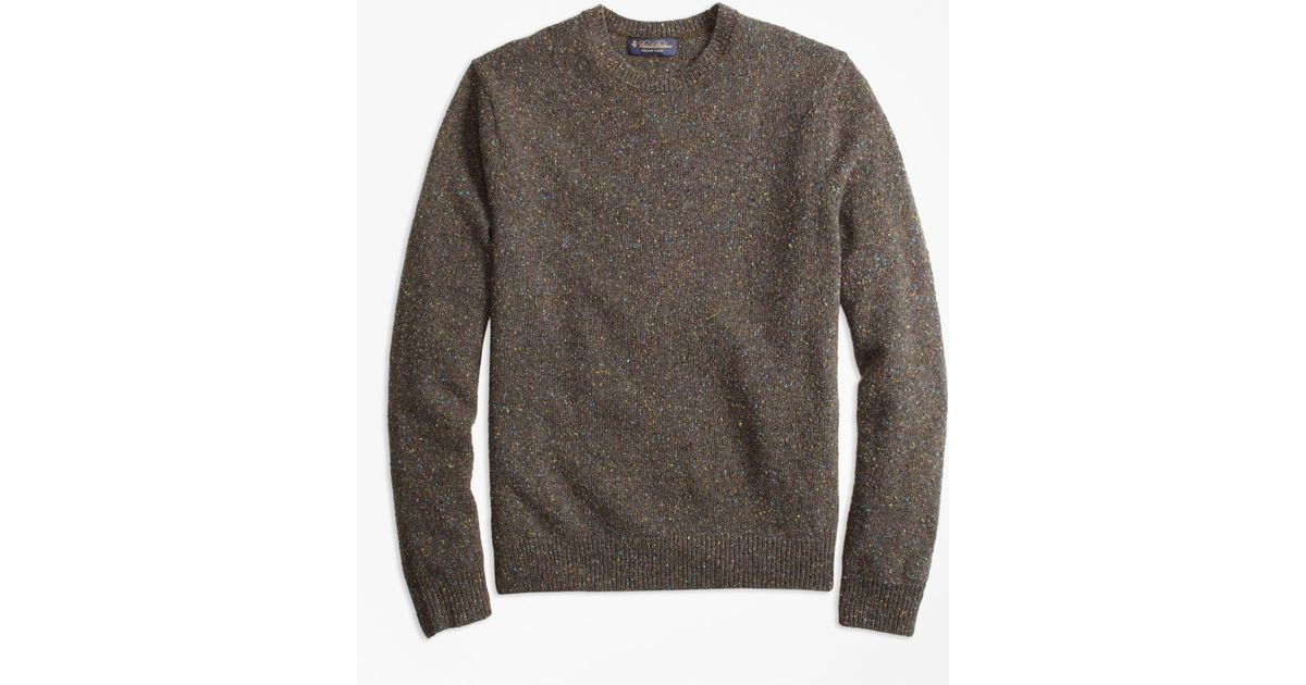 Brooks brothers Donegal Crewneck Sweater in Green for Men | Lyst