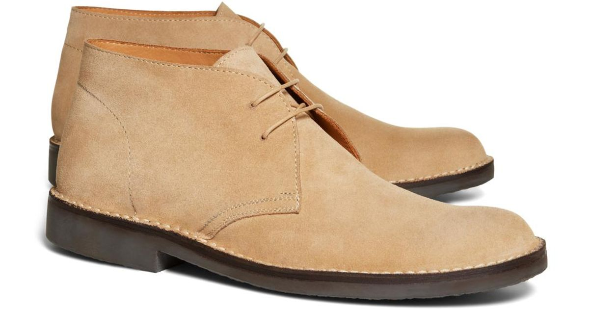64d68077dd20e Lyst - Brooks Brothers Field Chukka Boots in Natural for Men