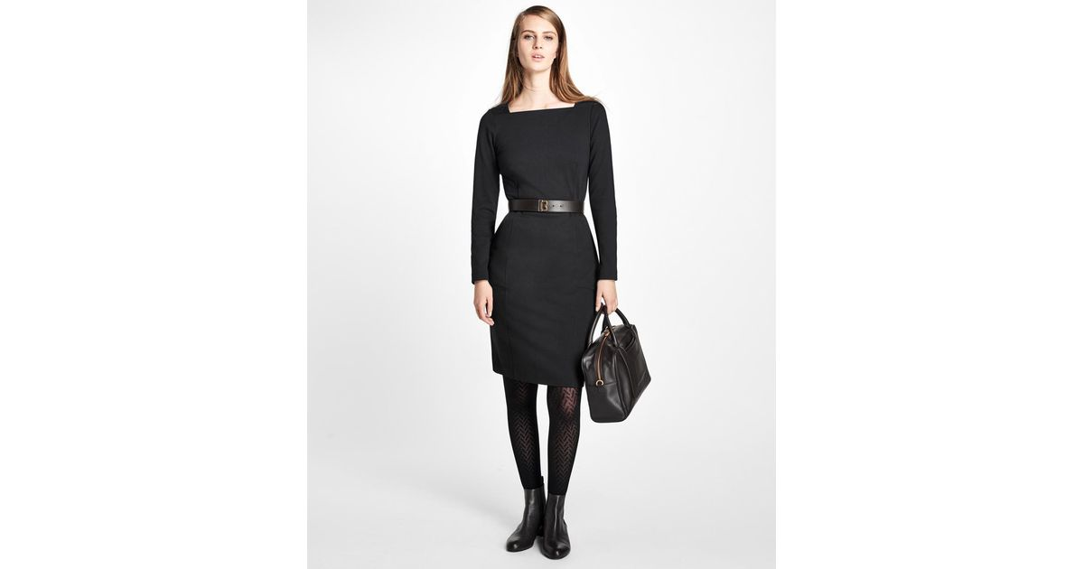 Lyst brooks brothers ponte knit sheath dress in black publicscrutiny Images