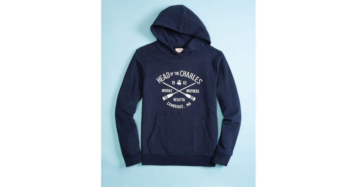 1fd8ab2c1536cb Lyst - Brooks Brothers Head Of The Charles® Regatta French Terry Hoodie in  Blue for Men