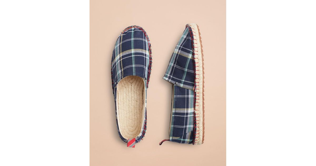 adb53933673 Lyst - Brooks Brothers Madras Canvas Espadrilles in Blue for Men