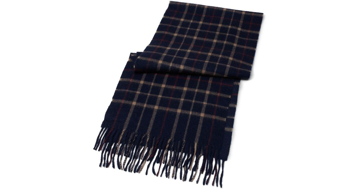 e585e0dbe Brooks Brothers Tattersall Camel Hair Scarf in Blue for Men - Lyst