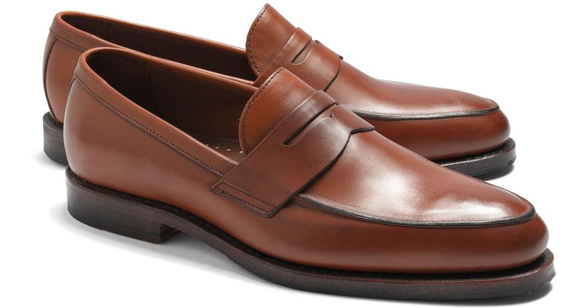 62df304fbe9 Lyst - Brooks Brothers Penny Loafers in Brown for Men - Save 5%