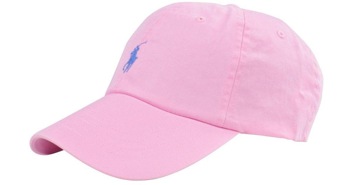 Polo Ralph Lauren Pink Polo Baseball Cap in Pink for Men - Lyst caef977bdfa