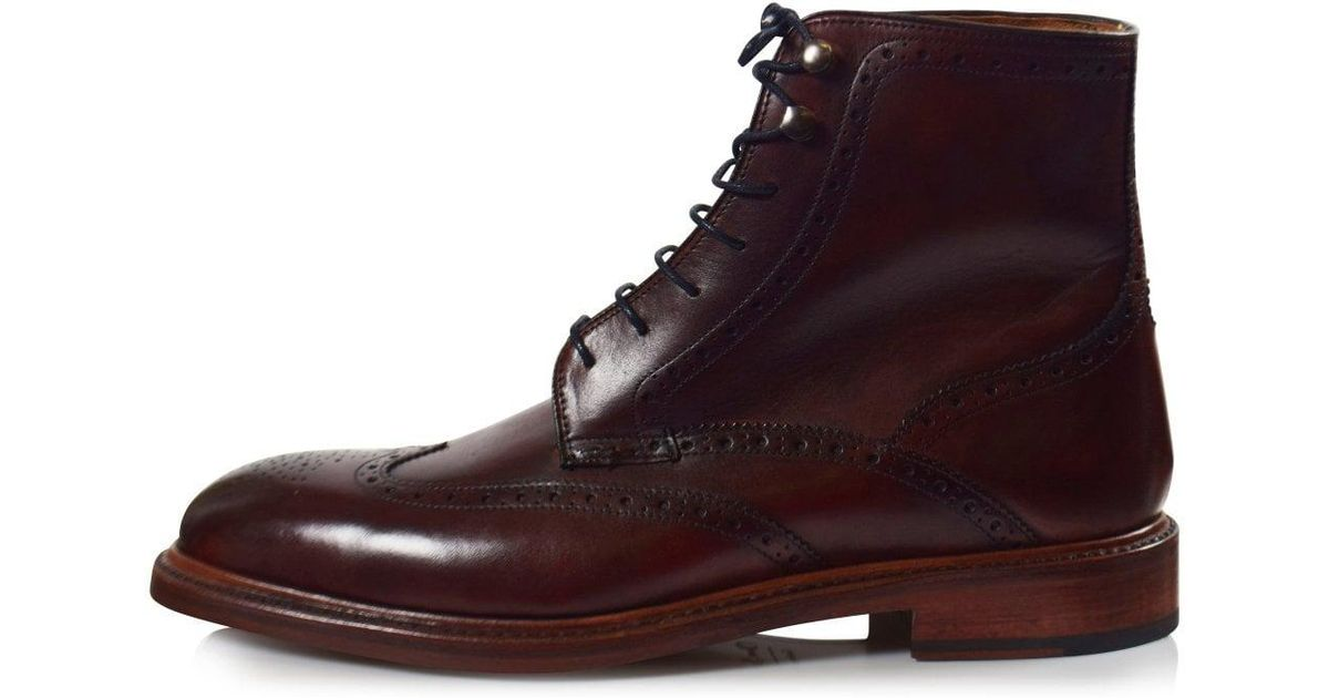d200b783ef5cc Lyst - Oliver Sweeney Mahogany Carnforth Brogue Boots for Men
