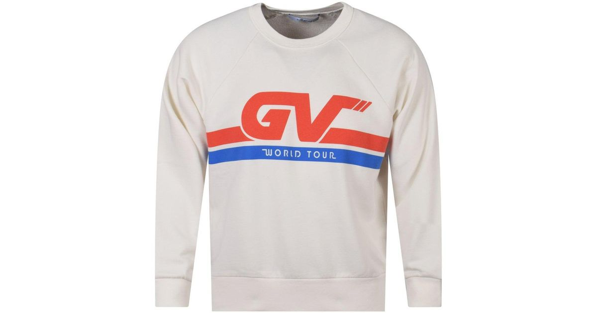 57461ad3e Givenchy Natural White Gv Tour Sweatshirt in Natural for Men - Lyst