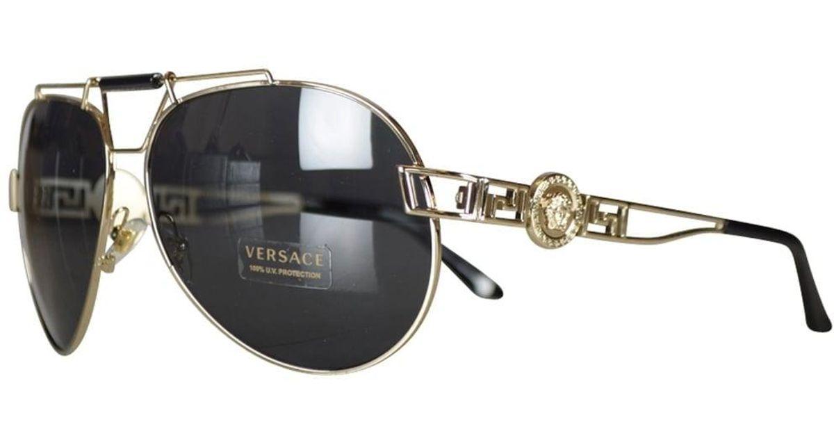 67c1d153e18 Lyst - Versace Accessories Gold Medusa Aviator Sunglasses for Men