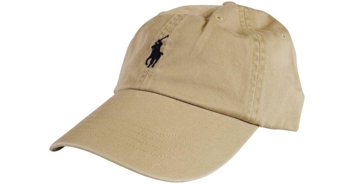 Polo Ralph Lauren Beige Front Logo Cap in Natural for Men - Lyst 557bf28a49d