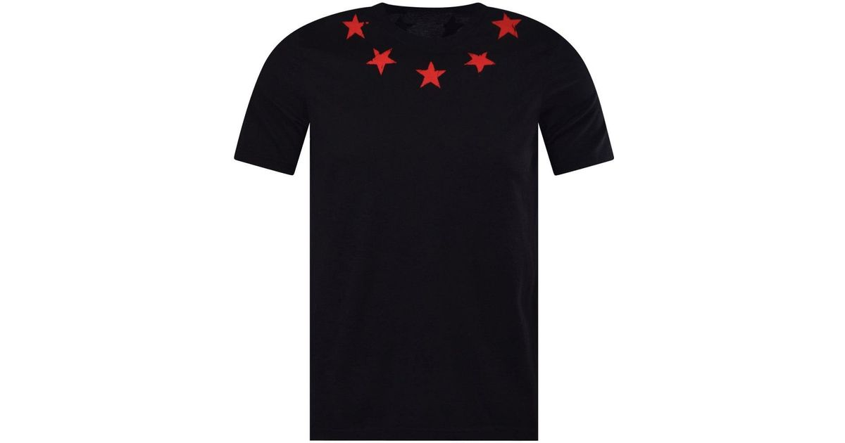 4814543753b90 Lyst - Givenchy Black red Star Print T-shirt in Black for Men