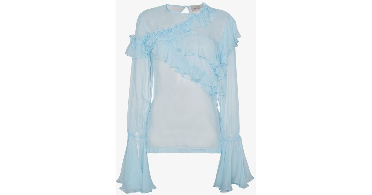Preen By Thornton Bregazzi Marika ruffled silk blouse Visit New Online Low Price For Sale Browse QgQBm