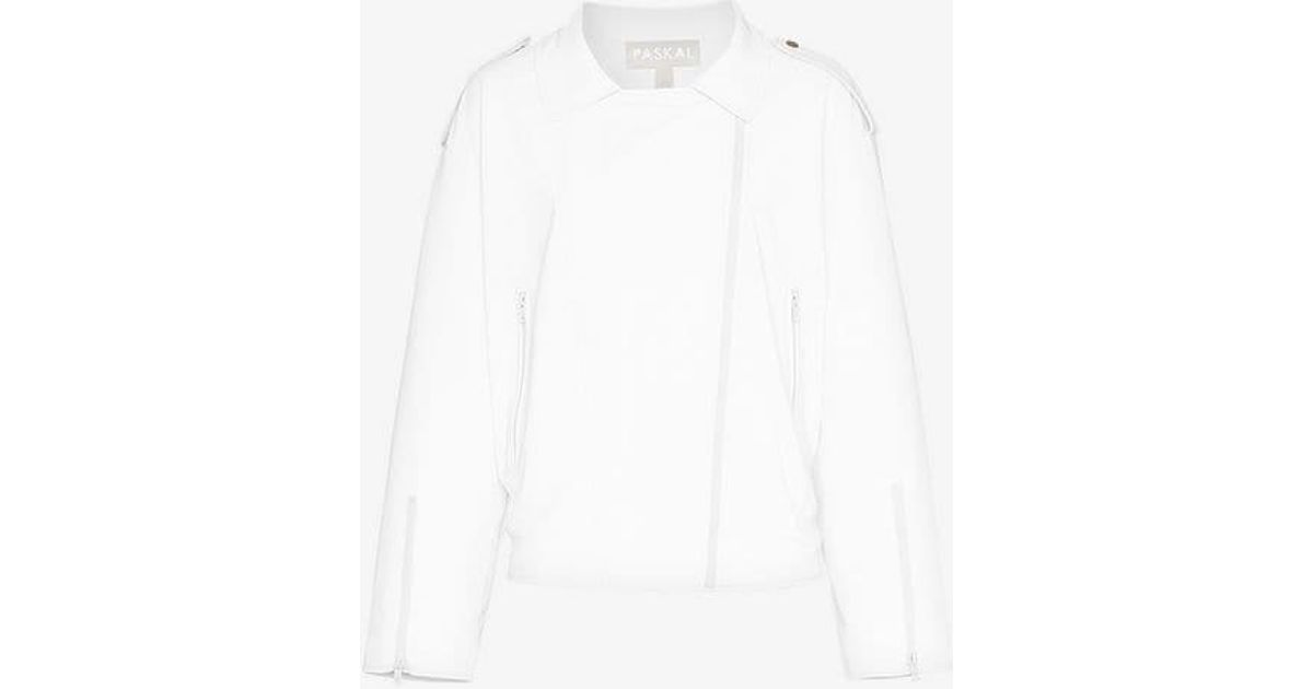 Reflective Leather In White Jacket Faux Paskal Lyst 56RxAA